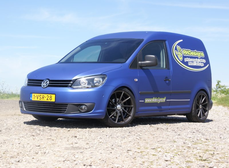 Full Wrap VW Caddy GP 1.6 TDI OEMS FS10 velgen 19 inch 5x112 et42 8.5J
