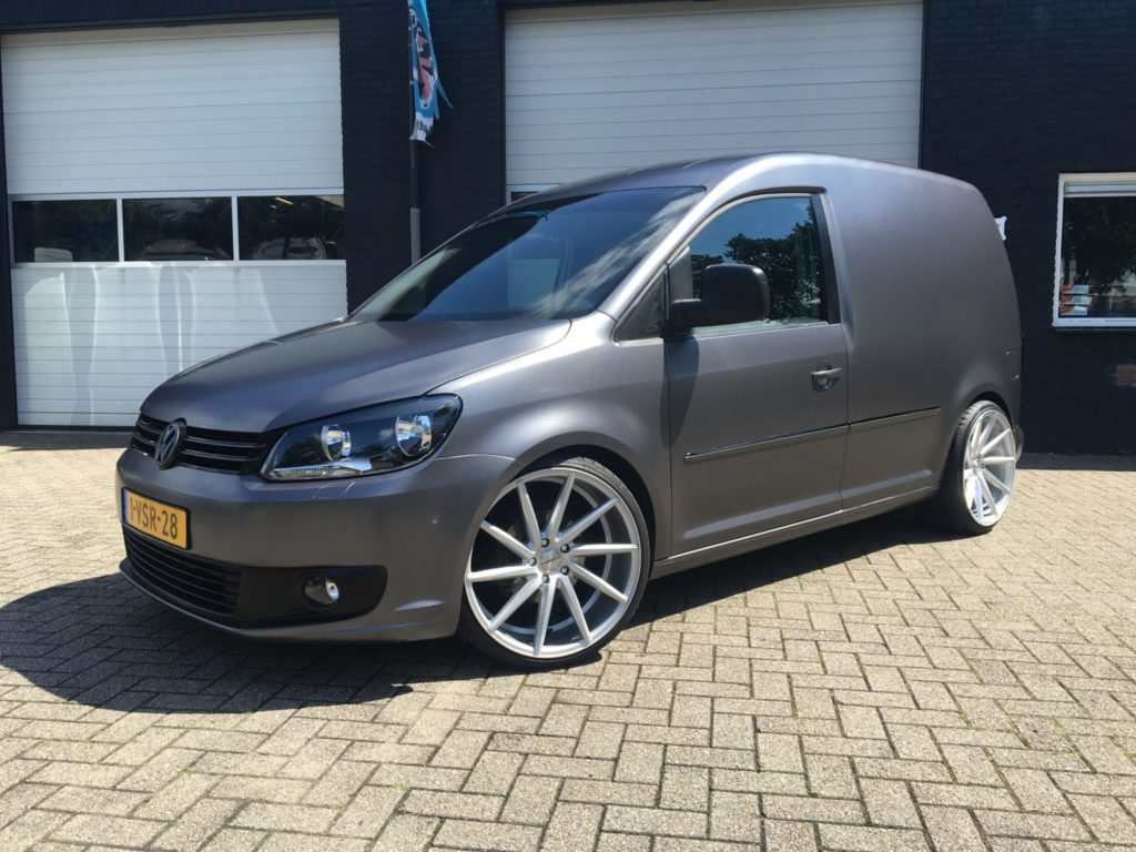 Full car wrap VW Caddy GP Facelift 1.6 TDI 3M Stain Dark Grey 20 inch OEMS IFGTR 5x112 et45 8.5J 10J