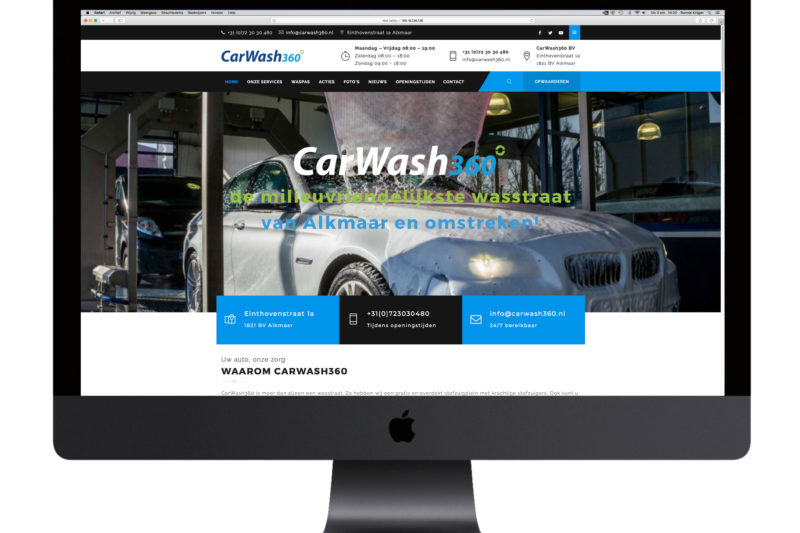 Nieuwe Wordpress website Carwash360
